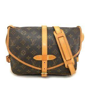Auth Louis Vuitton Monogram Saumur 30 Crossody Bag